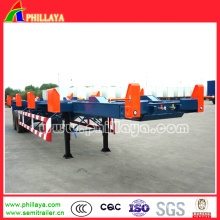 Long Vehicle Port-Use 40FT Container Terminal Skeleton Semi Trailer