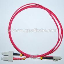 SC / LC Duplex 62.5 / 125um MM Câble de connexion à fibre optique