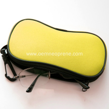 Soft waterproof neoprene glasses case with carabineer clip