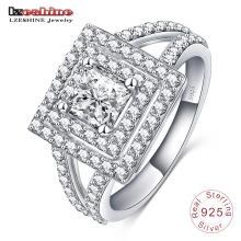 El último anillo de plata esterlina cuadrada 925 para hombres (SRI0011-B)