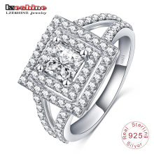 Последний квадратной формы кольцо стерлингового серебра 925 для мужчин (SRI0011-Б)