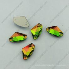 Arco-íris agradável costurar em strass com dois buracos