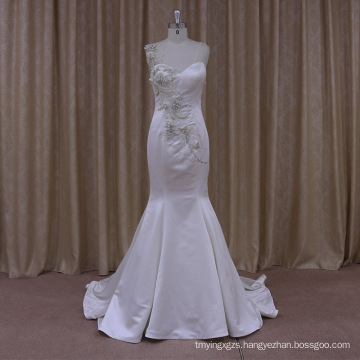 Romantic Promotion Tank Top White Satin Wedding Dress Two Piece