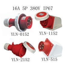 Plugue e soquete industriais de 16A 5p