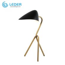 Ensembles de lampes de table en métal pour chambre à coucher LEDER