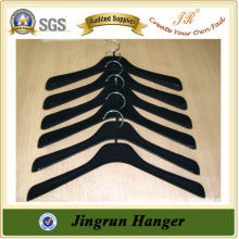 New 2016 Cheap Garment Hanger Black Velvet Plastic Hanger for Clothes