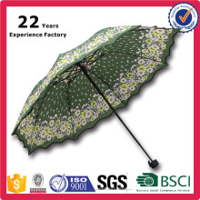 21 Inch Manual Open Myanmar Market Lowest Price 3 Fold Dome Umbrella