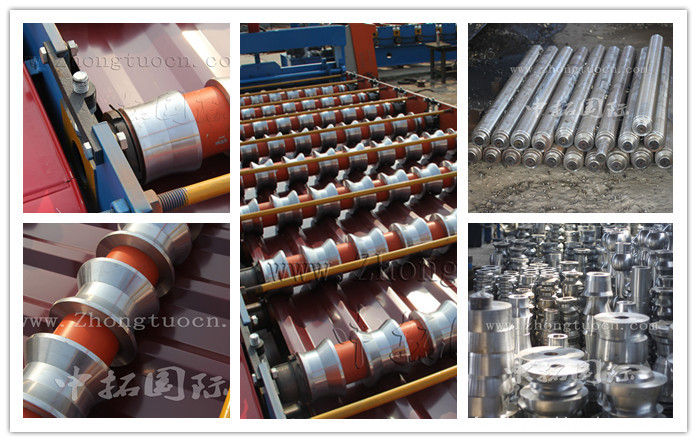 glazed tile metal roll forming machine