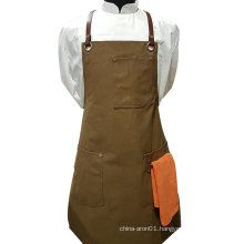 Waxed canvas art tool apron
