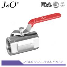 1PC válvula de bola de acero inoxidable 1000wog