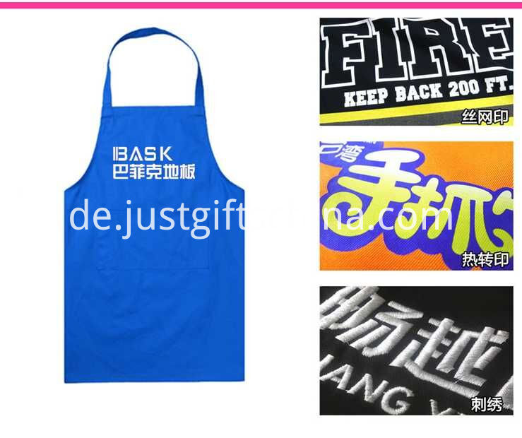 Promotional Cotton Apron W Branded Logo & Front Pocket (2)