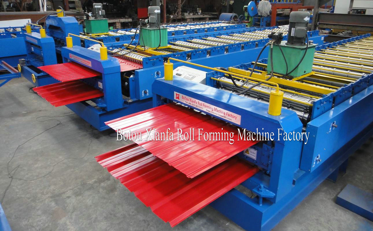 double metal panel forming machine