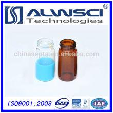 Frasco de almacenamiento de vidrio de laboratorio de proveedor de China con tapa de PP negro cerrado