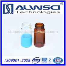 Frasco de armazenamento de vidro de laboratório de fornecedor da China com tampão de PP preto fechado