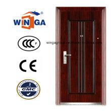 Estilo indiano clássico exterior ferro metal segurança aço porta (WS-126)