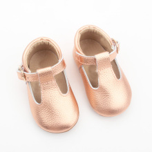 New Baby Princess Skórzany T-bar Baby DressShoes Girls
