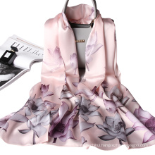 light weight decorative spring summer women floral printed factory romantic shawl silk scarf