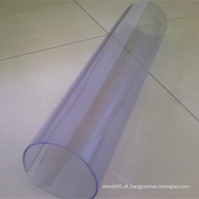 Folha transparente macia transparente do PVC da folha macia transparente super do PVC