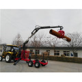 log Crane on Log Trailer