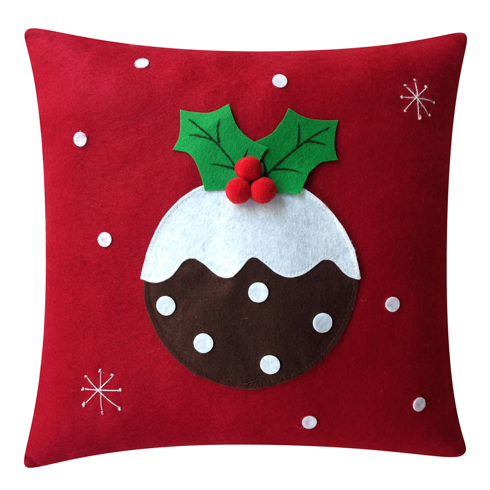 Pudding Pattern Christmas Pillow