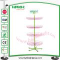 Girador de cesta de arame fixo de piso ajustável de 4 camadas