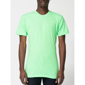 プレミアムユニセックスブレンドファッションティー50/50ブレンド蛍光Tシャツ