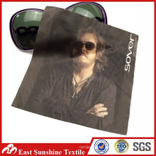 Custom Hot Sublimation Printed Microfiber Polyester Fabric Sunglasses Cleaning Cloth