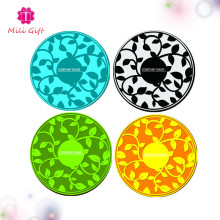 Colorful Flower Design Round 2mm Épaisseur Coffee Cup Silicone Mat Pad
