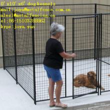 10'x10'x6' двери с порошковым покрытием дизайн модульные собака бежит