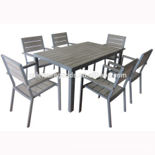 Most popular aluminium outdoor furniture set with ps wood