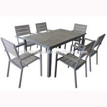 Самый популярный алюминиевый напольный комплект мебели с PS древесины