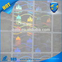 Holograma de precio barato para tarjetas / etiquetas de seguridad únicas de holograma