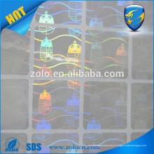 Hologramme à prix bon marché pour cartes / autocollants de sécurité hologrammes uniques