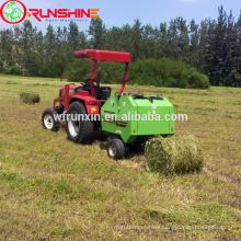 Round hay baler with CE