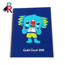 Gewundenes Notizbuch des kundenspezifischen Logoberufsmode mit verschiedenen Größen