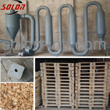 Air stream /wood shavings airflow pipe drying