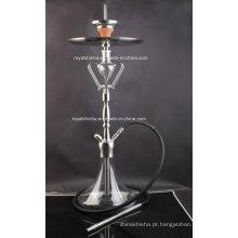 Novo design de aço inoxidável e peças de vidro Shisha Hookah