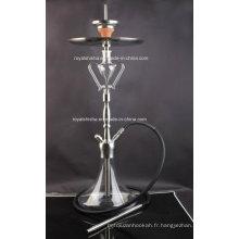 Nouveau design en acier inoxydable et pièces en verre Narguilé Shisha