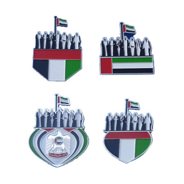 Dubai UAE Flag Trục men kim loại Lapel