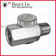 Mini regulador pneumático de pressão de ar 1/4 NPT com manómetro