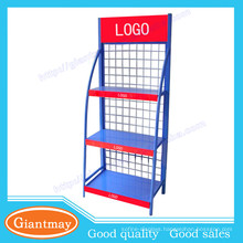 heavy duty lubrication oil merchandise wire mesh display racks shelving
