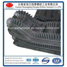 Banda transportadora de flanco en calor de resistencia industrial