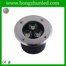 Boîte d'éclairage souterrain 3w haute performance rgb projecteur d'éclairage
