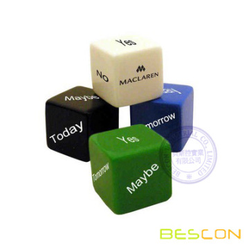 Fashion Colorful Custom Printing Decision Maker Dice