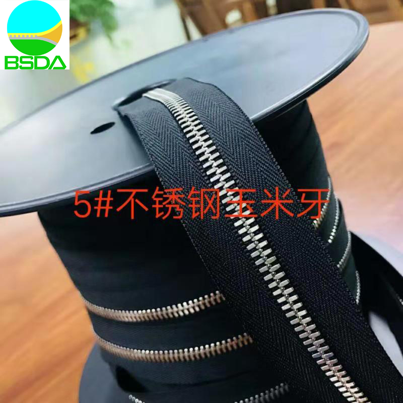 Corn Teeth Steel zipper Roll Zip Chain Wholesale