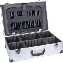 Metal handle small aluminum beauty case