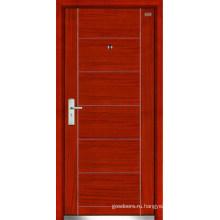 Стальные деревянные двери (LT-106)