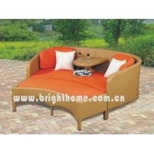 Wicker Rattan Двойной диван-набор Сад Уличная мебель Bl-2332