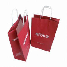Eco-friendly Paper Bag with Twisted Handle, Measures 30 x 42 x 12cm