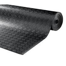 Black Anti Slip Shed Van Garage Workshop Rubber Flooring Sheets Roll